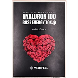 MEDI-PEEL Маска детокс с экстрактом розы и г/к Hyaluron 100 Rose Energy Tox (25g) - фото 12338