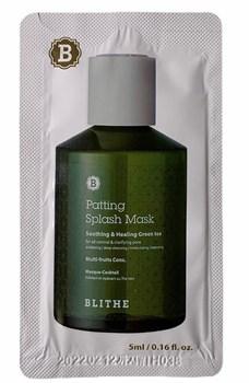 BLITHE, Сплэш-маска для восстановления «Смягчающий и заживляющий зеленый чай», 5 мл (пробник) - фото 12499