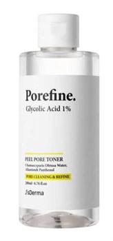 Пилинг тонер с гликолевой кислотой JsDERMA Pore Cleaning&Refine Glycolic Acid 1% Toner, 200ml - фото 12993
