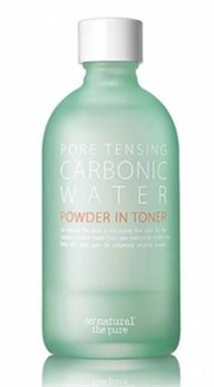 Тонер для жирной кожи SONATURAL Pore Tensing Carbonic Water Powder In Toner, 135 мл - фото 13182