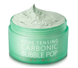 Глиняно-кислородная маска SONATURAL Pore Tensing Carbonic Bubble Pop Clay Mask, 130 гр. - фото 13198