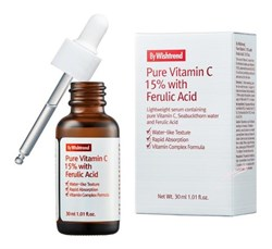 Сыворотка с витамином С и феруловой кислотой BY WISHTREND Pure Vitamin C 15% with Ferulic Acid, 30 мл - фото 13413