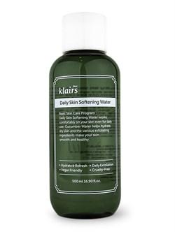 Деликатный отшелушивающий тоник Klairs Daily skin softening water, 500 мл - фото 13465