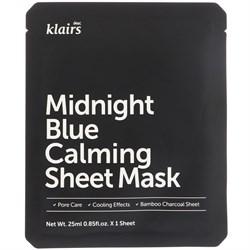 Успокаивающая тканевая маска Klairs Midnight Blue Calming Sheet Mask, 25 мл - фото 13482