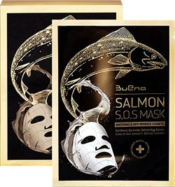 Тканевая лифтинг маска с экстрактом лососевой икры Bueno Salmon S.O.S Mask, 40 мл - фото 13491