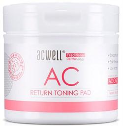 Обновляющие пэды с кислотами ACWELL Return Toning Pad, 120 мл, 50шт - фото 13857