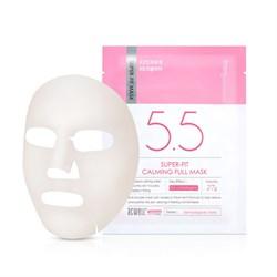 Успокаивающая тканевая маска для чувствительной кожи ACWELL Super-Fit Calming Full Mask, 27 мл - фото 14030