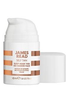 Ночная маска для лица уход и загар темная JAMES READ  Sleep Mask Face Tan - Dark (серия SELF TAN), 50 мл - фото 14049