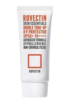 Тонирующий солнцезащитный крем для лица на физических фильтрах ROVECTIN Skin Essentials Double Tone-up UV Protector SPF50+PA++++, 50 мл - фото 14523