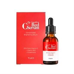 Сыворотка с витамином С 20%, витамином В12 и глутатионом TIAM MY Signature Red C Serum, 30 мл - фото 14939