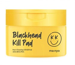 Гидрофильные пилинг-пэды с миксом кислот Manyo Factory Blackhead Pure Cleansing Oil Kill pad, (50шт) 200 мл - фото 15024