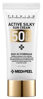 Солнцезащитный шелковый крем MEDI-PEEL Active Silky Sun Cream, 50 мл - фото 15085