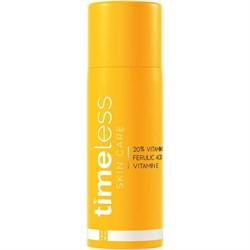 Антиоксидантная сыворотка с витамином С 20%, витамином Е и феруловой кислотой Timeless Skin Care 20% Vitamin C + E Ferulic Acid Serum, 30 мл - фото 15115