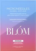 """BLOM, Микроигольные патчи """"Antiage"""" с изофлавонами красного клевера для кожи вокруг глаз и скул, 4 пары"""