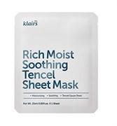Успокаивающая тканевая маска для глубокого увлажнения Klairs Rich Moist Soothing Tencel Sheet Mask, 25 мл