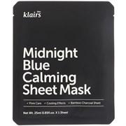 Успокаивающая тканевая маска Klairs Midnight Blue Calming Sheet Mask, 25 мл
