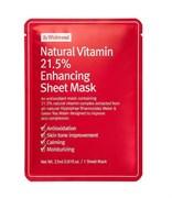 Тканевая маска с витамином С By Wishtrend Natural Vitamin C 21.5% Enhancing Sheet Mask, 23 мл