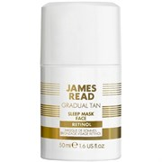Ночная маска для лица уход и загар с ретинолом JAMES READ SLEEP MASK FACE RETINOL (серия GRADUAL TAN), 50 мл