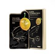 Двухступенчатая тканевая маска для сияния, свежести и молодости кожи Bueno Salmon VItamin C SOS Mask, 30 мл