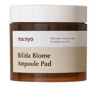 Деликатные отшелушивающие пэды на основе комплекса Bifida Biome, PHA и LHA кислот Manyo Factory Bifida Biome Ampoule Pad, (70 шт) 150 мл